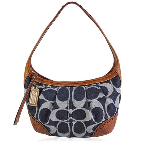 Coach Ergo Signature Denim Hobo Handbag