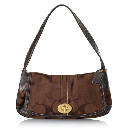 Coach Ergo Signature Flap Shoulder Handbag