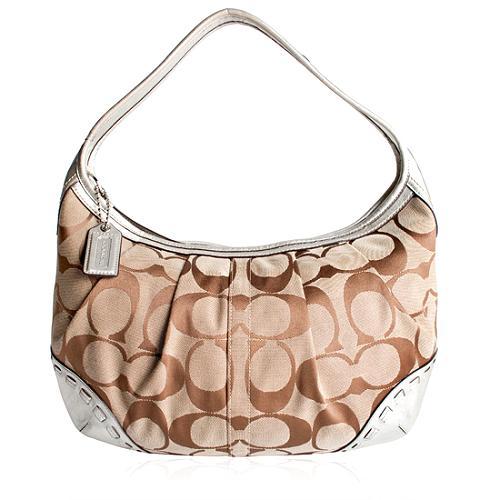 Coach Ergo Signature Pleated Large Hobo Handbag