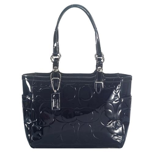 Coach Gallery Embossed Patent East/West Tote