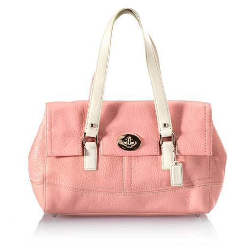 Coach Hamilton Leather Satchel Handbag