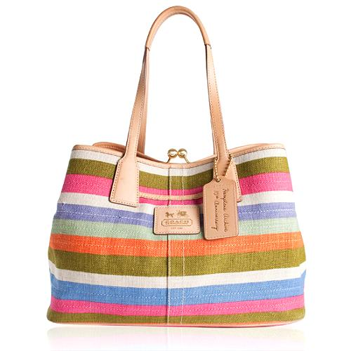 Coach Hamptons Archive 10th Anniversary Legacy Framed Carryall Tote