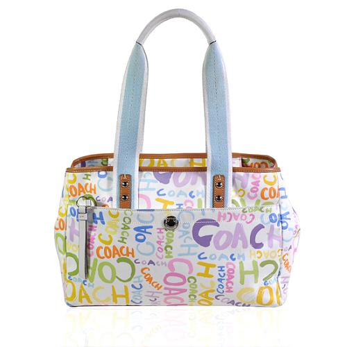 Coach Hamptons Graffiti Tote