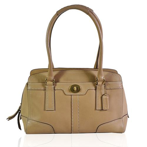 Coach Hamptons Leather Carryall Tote