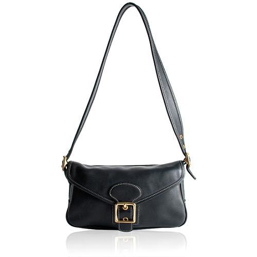 Coach Hamptons Leather Flap Shoulder Handbag