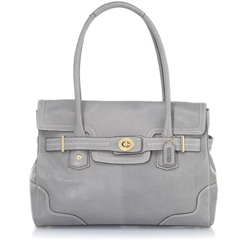 Coach Hamptons Leather Flap Tote