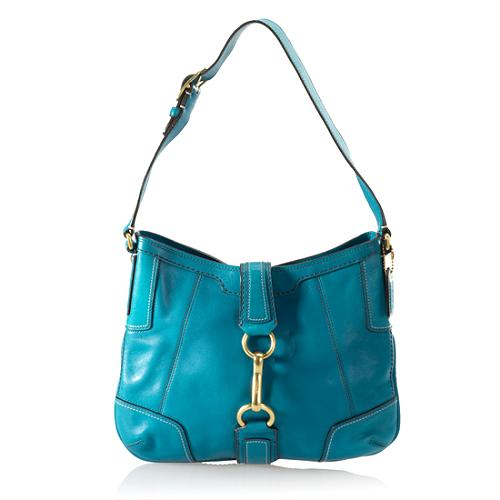 Coach Hamptons Leather Hobo Handbag