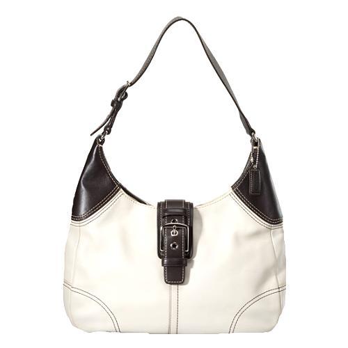 Coach Hamptons Leather Large Hobo Handbag