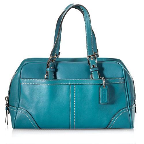 Coach Hamptons Leather Satchel Handbag