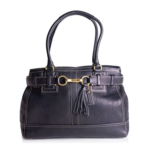 Coach Hamptons Pebbled Leather Large Carryall Tote