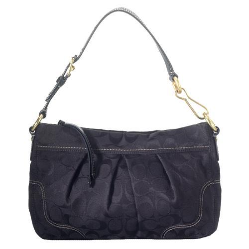Coach Hamptons Pleated Signature Shoulder Handbag