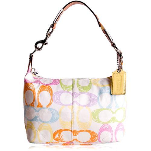 Coach Hamptons Scribble Shoulder Handbag