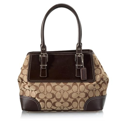 Coach Hamptons Signature Carryall Tote