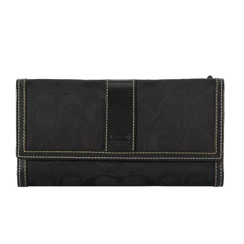 Coach Hamptons Signature Checkbook Wallet