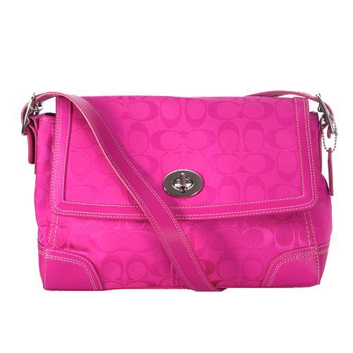 Coach Hamptons Signature Flap Shoulder Handbag