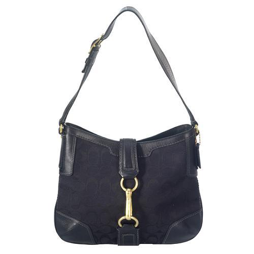 Coach Hamptons Signature Hobo Handbag