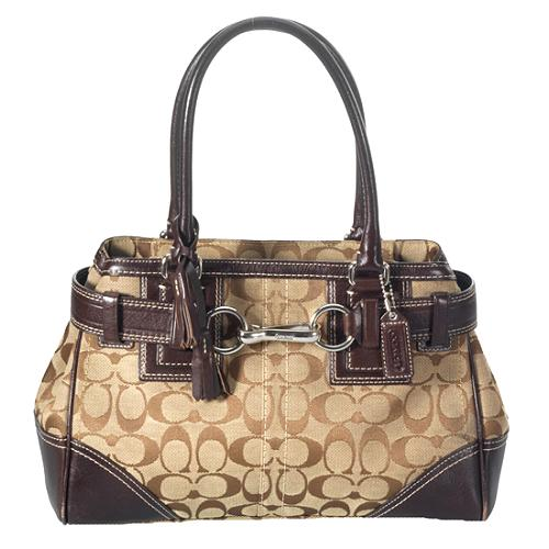 Coach Hamptons Signature Large Carryall Tote