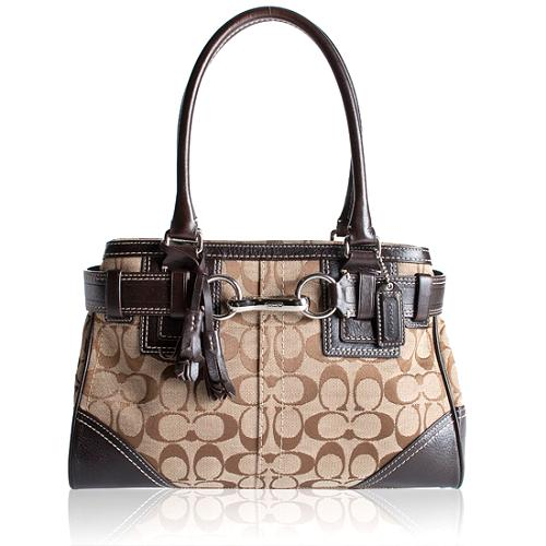 Coach Hamptons Signature Medium Carryall Tote