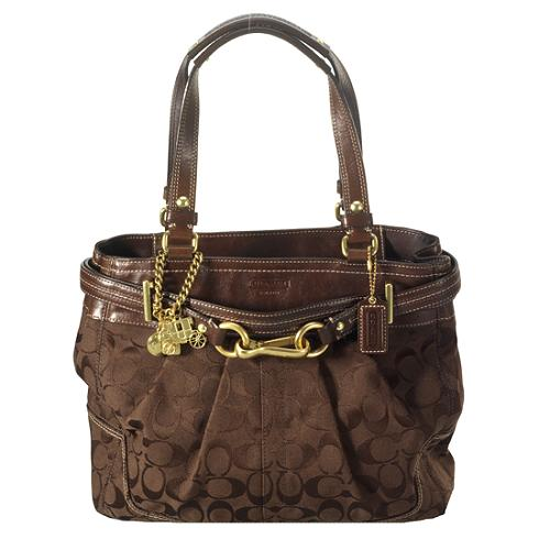 Coach Hamptons Signature Shoulder Handbag