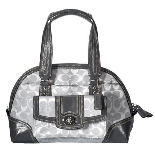 Coach Hamptons Signature Zip Domed Satchel Handbag