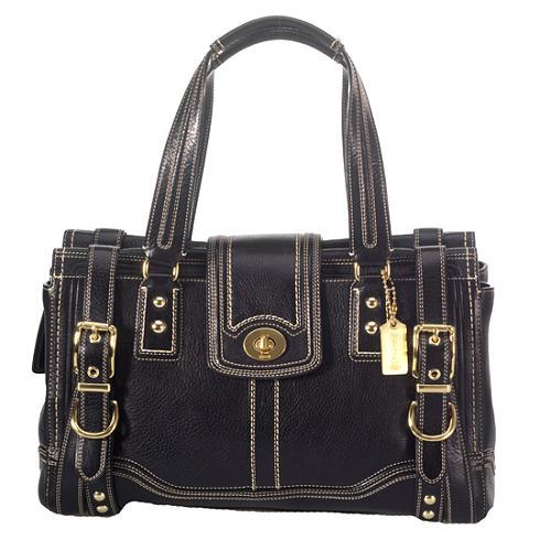 Coach Hamptons Vintage Leather Large Satchel Handbag
