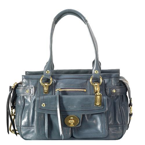 Coach Hamptons Vintage Leather Lindsay Satchel Handbag