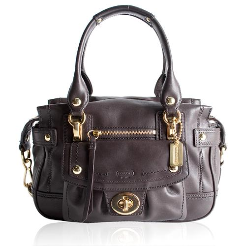 Coach Hamptons Vintage Leather Mini Shopper Tote