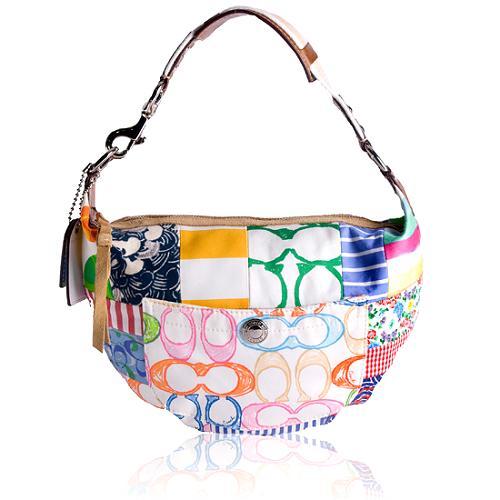 Coach Hamptons Weekend Patchwork Hobo Handbag