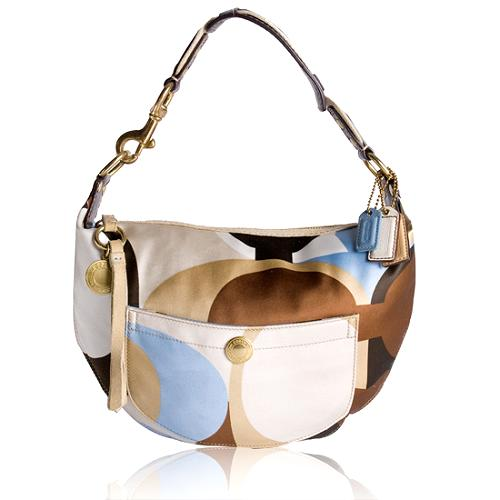 Coach Hamptons Weekend Scarf Print Hobo Handbag