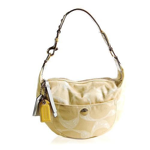 Coach Hamptons Weekend Small Signature Scribble Hobo Handbag