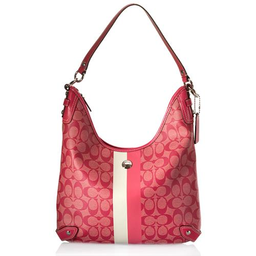 Coach Heritage Stripe Convertible Hobo Handbag
