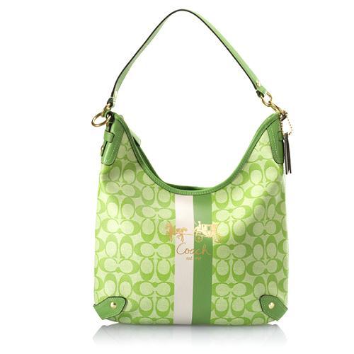 Coach Heritage Stripe Hobo Handbag
