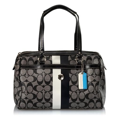 Coach Heritage Stripe Satchel Handbag