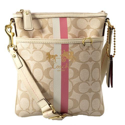Coach Heritage Stripe Swingpack with Matching Mini Skinny