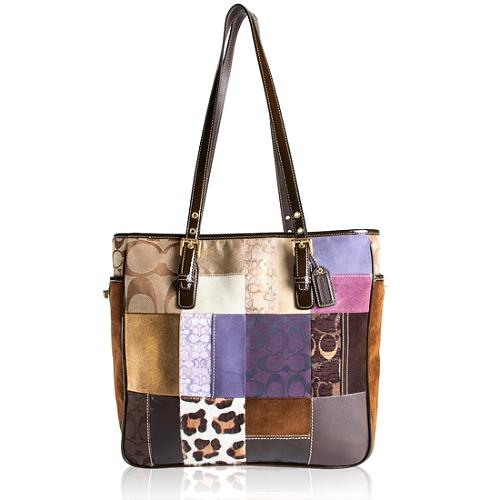 Coach Holiday Patchwork Book Tote