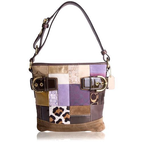 Coach Holiday Patchwork Duffle Handbag