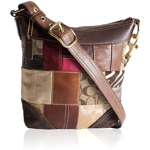 Coach Holiday Patchwork Duffle Shoulder Handbag
