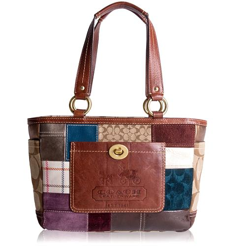 Coach Holiday Patchwork Gallery Tote