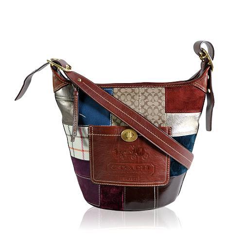 Coach Holiday Patchwork Shoulder Handbag