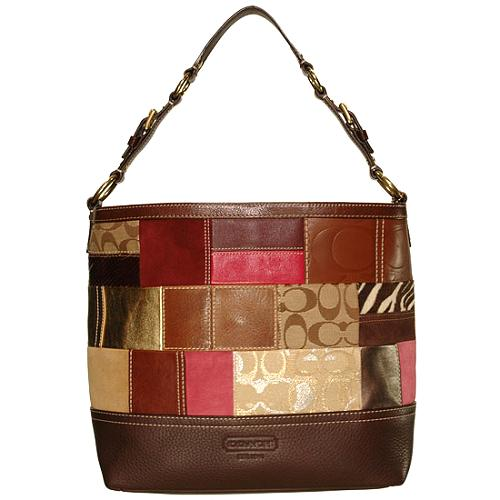 Coach Holiday Patchwork Shoulder Tote