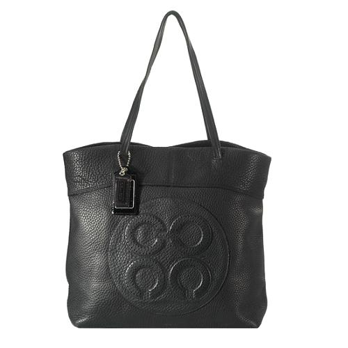 Coach Julia Leather Op Art Perry Tote