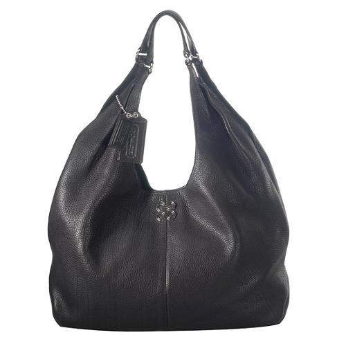 Coach Julia Leather XL Hobo Handbag