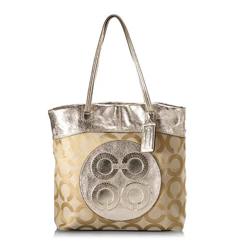 Coach Julia Op Art Perry Tote