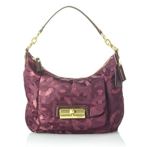 Coach Kristin Chainlink Metallic Hobo Handbag