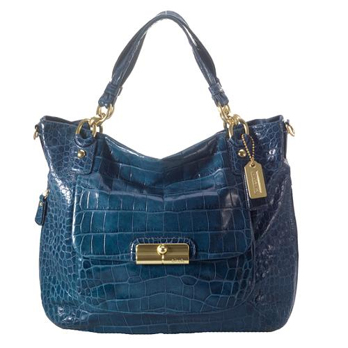 Coach Kristin Embossed Croc Expandable Tote
