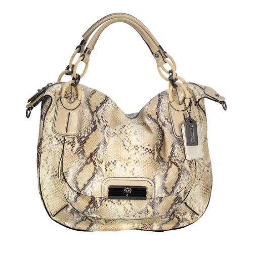 Coach Kristin Embossed Python Satchel Handbag