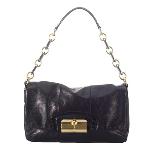 Coach Kristin Leather Flap Shoulder Handbag