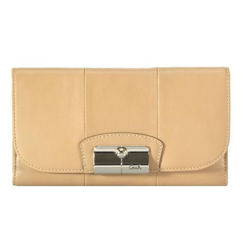 Coach Kristin Leather Slim Envelope Wallet