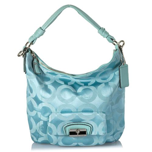 Coach Kristin Op Art Sateen Hobo Handbag