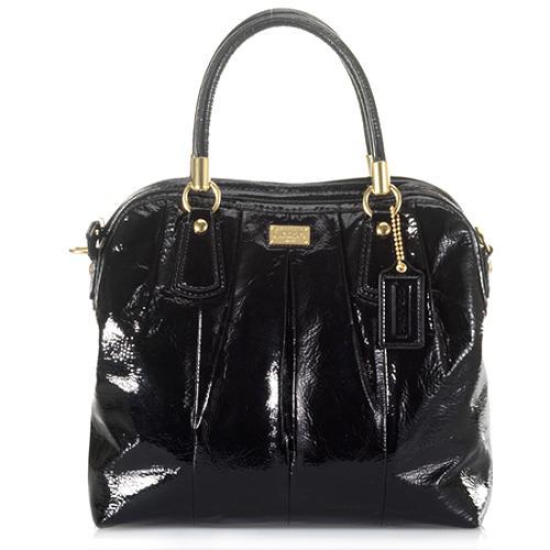 Coach Kristin Patent Leather Pleated Satchel Handbag